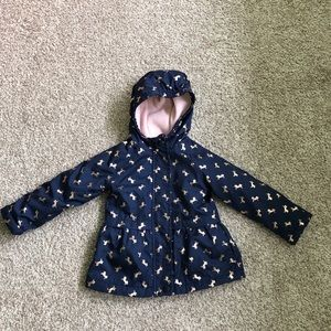 OshKosh Navy Peplum Unicorn Jacket